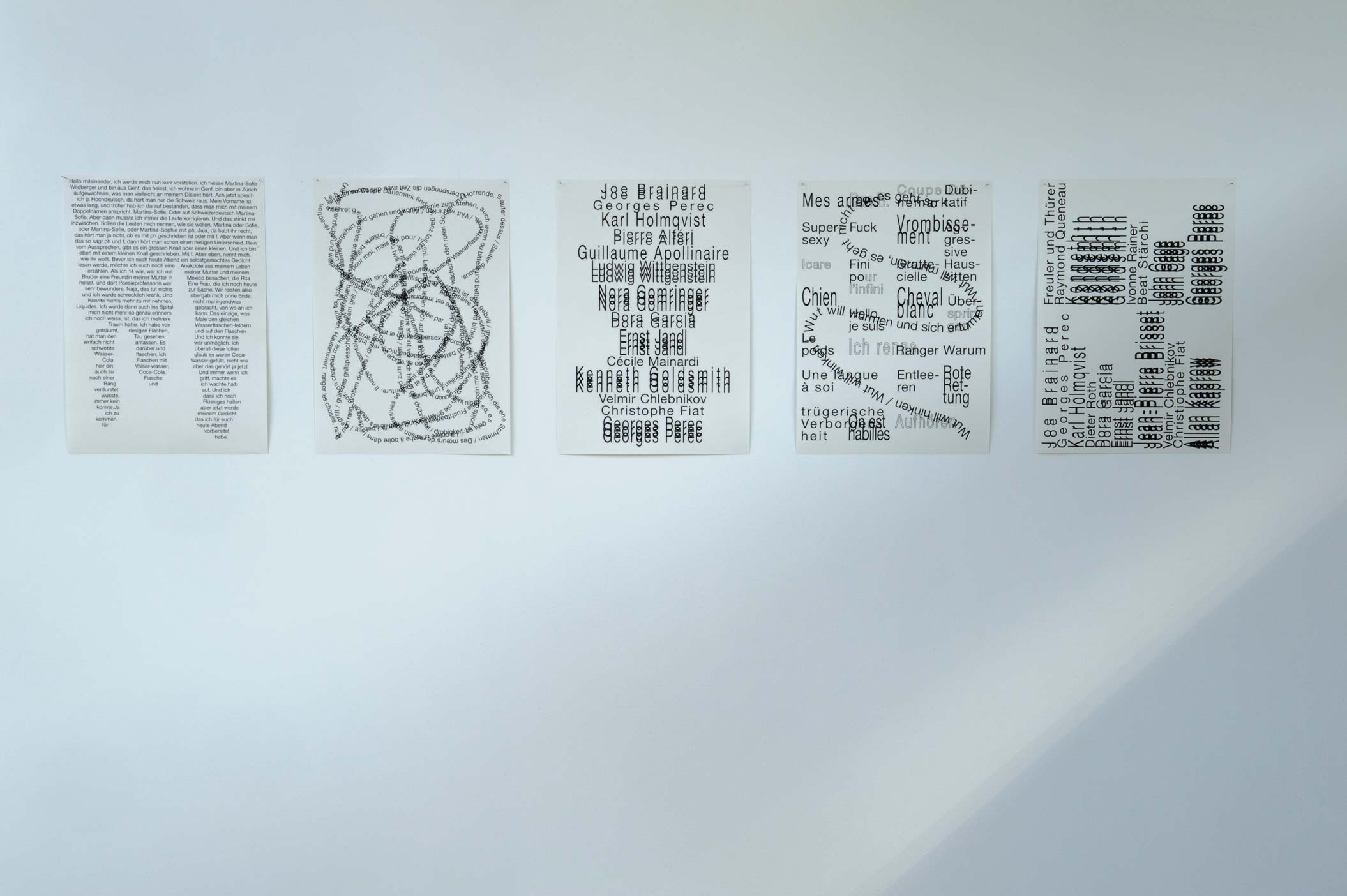 Martina-Sofie Wildberger, Posters. Crédit La Kunsthalle Mulhouse