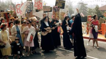 Mary's Day Parade, Immaculate Heart College, Los Angeles, 1964. Image courtesy of the Corita Art Center, Immaculate Heart Community, Los Angeles.