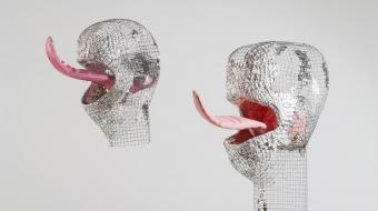 © Anu Põder, Lickers, 2007, Metal wire, textile, foil. Private collection. Photo by Hedi Jaansoo